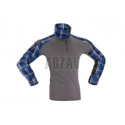 Flannel Combat Shirt Blue L Invader Gear