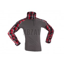 Flannel Combat Shirt Red S Invader Gear