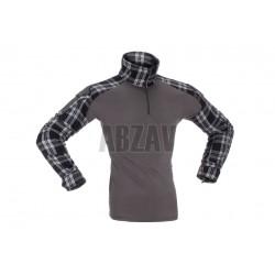 Flannel Combat Shirt Black S Invader Gear